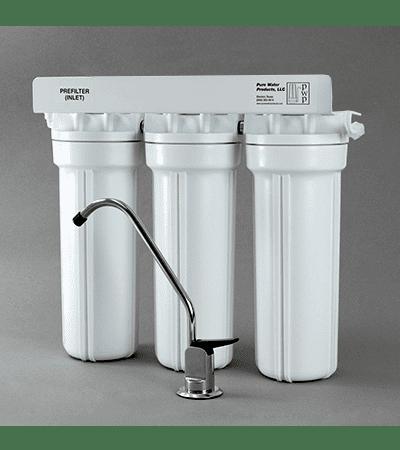 Фото тройной проточный фильтр для воды