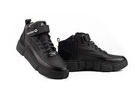 Подростковые ботинки кожаные зимние черные Monster BAS (33)
