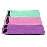 Набор тканевых эспандеров для фитнеса Hip Resistance Band 3 шт в мешочке (2_009794)