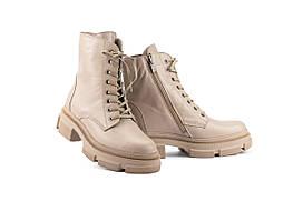 Женские ботинки кожаные весна/осень бежевые Mkrafvt 260 байка