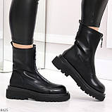 Эффектные трендовые черные женские ботинки челси на низком ходу 36-23см, фото 5