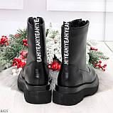 Эффектные трендовые черные женские ботинки челси на низком ходу 36-23см, фото 9