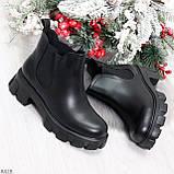Комфортные демисезонные женские ботинки челси на массивной подошве, фото 2