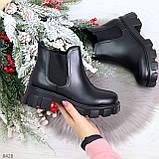 Комфортные демисезонные женские ботинки челси на массивной подошве, фото 8