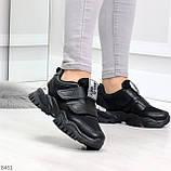 Трендовые текстильные миксовые черные женские кроссовки на липучках, фото 8