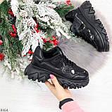 Модные миксовые черные женские кроссовки сникерсы на шнуровке, фото 8