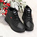 Стильные высокие черные женские кроссовки кеды криперы на шнуровке, фото 10
