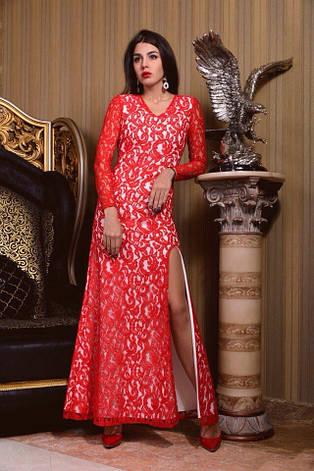Платье гипюр с разрезом , фото 2