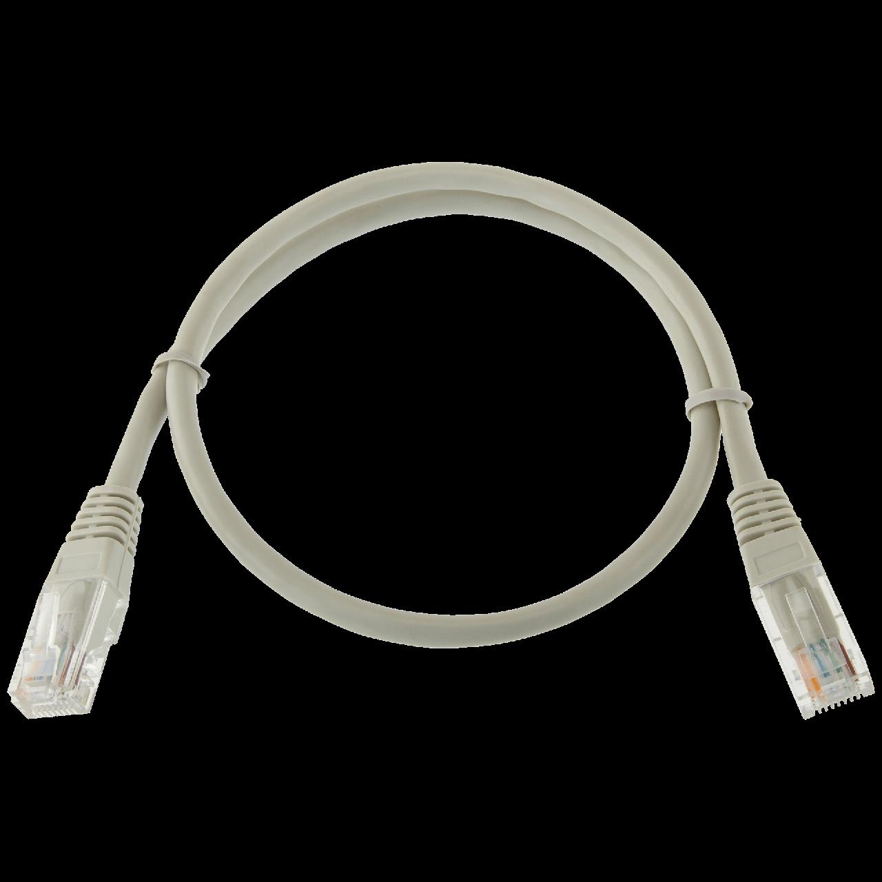 Патч-корд литой LogicPower UTP RJ45 кат. 5Е 0.5 м (серый)