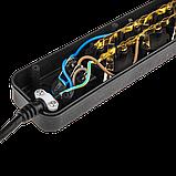 Фильтр-удлинитель сетевой LogicPower LP-X6, 6 розеток, цвет-черный, 3,0 m, фото 5