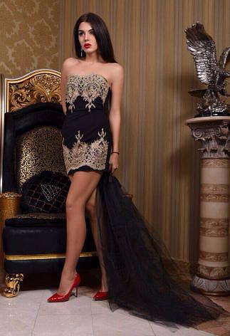 Женское мини-платье без бретелек, фото 2