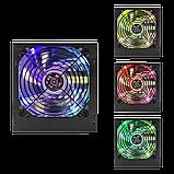 Блок питания ATX-500W 12 см 3 SATA OEM APFC LED Fan, фото 3