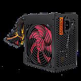 Блок питания ATX-550W 12 см 4 SATA PCI BLACK без кабеля питания, фото 4