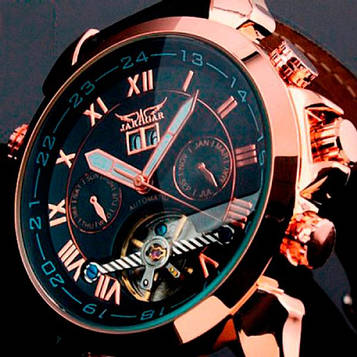 Jaragar Мужские классические механические часы Jaragar Turboulion 1007 с автоподзаводом и датой