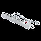 Фильтр-удлинитель сетевой LogicPower LP-X6, 6 розеток, цвет-серый, 1,8 m, фото 3
