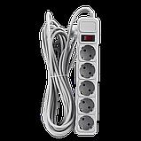 Фильтр-удлинитель сетевой LogicPower LP-X5, 5 розеток, цвет-серый, 10 m (OEM), фото 2
