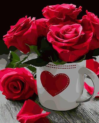 AS0020 Раскраска по номерам Розовое сердце, В картонной коробке, фото 2