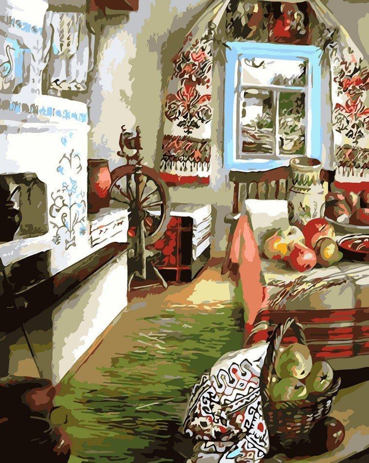 AS0107 Раскраска по номерам Украинский уют, В картонной коробке