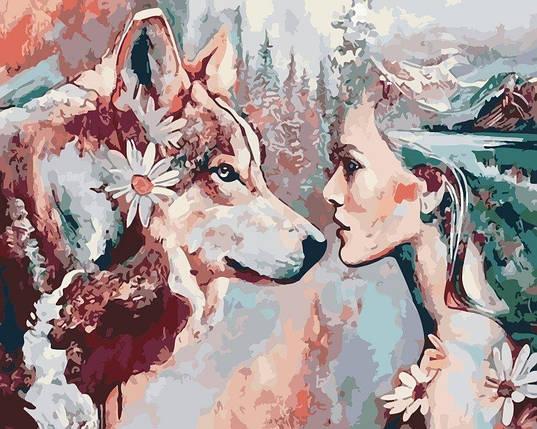 AS0189 Раскраска по номерам Душа волчицы, В картонной коробке, фото 2