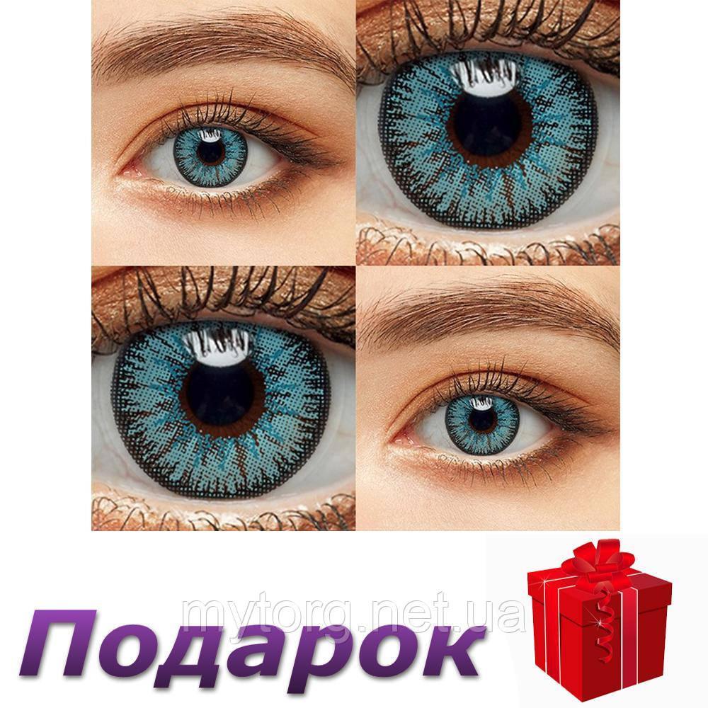 Цветные линзы 1 пара Линзы на Хэллоуин  Blue1