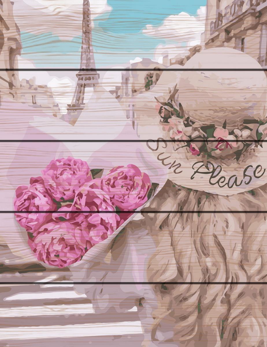 RA-GXT28145 Раскраска по номерам на деревяной основе Парижанка