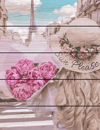 RA-GXT28145 Раскраска по номерам на деревяной основе Парижанка, фото 2