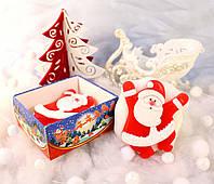 """""""Веселый Санта-Клаус""""натуральное подарочное мыло ручной работы"""