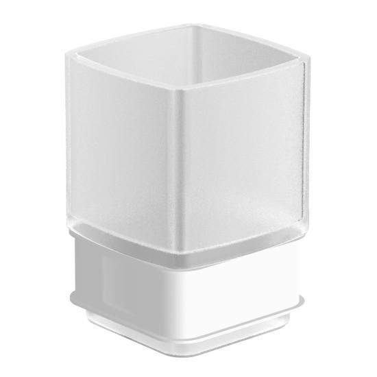 TEO стакан матовое стекло с мягким кольцом