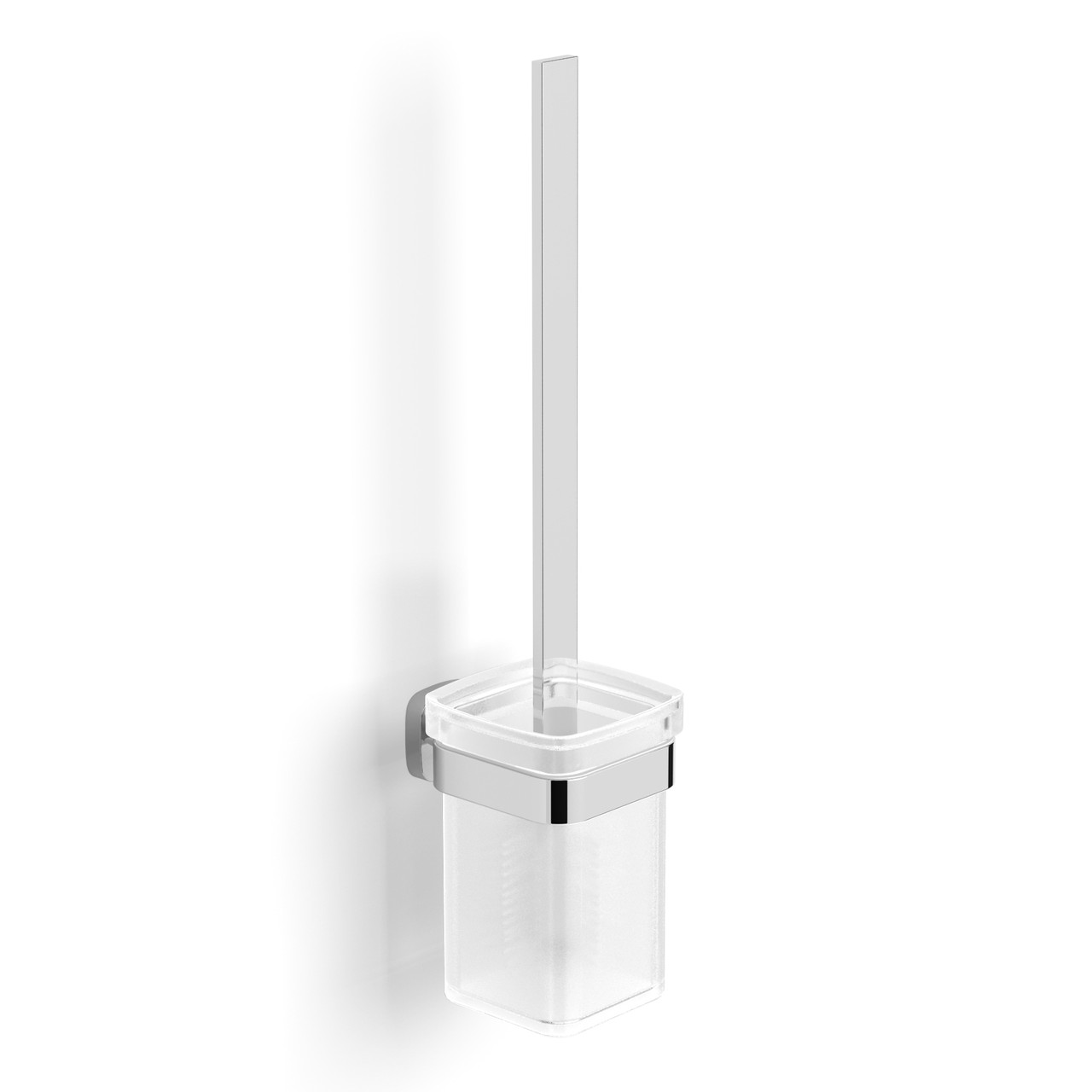 TEO ершик туалетный, матовое стекло, крепление к стене, хром