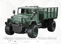 Детская игрушка для мальчиков Военная машина на радиоуправлении с пультом, встроенный аккумулятор, зеленая