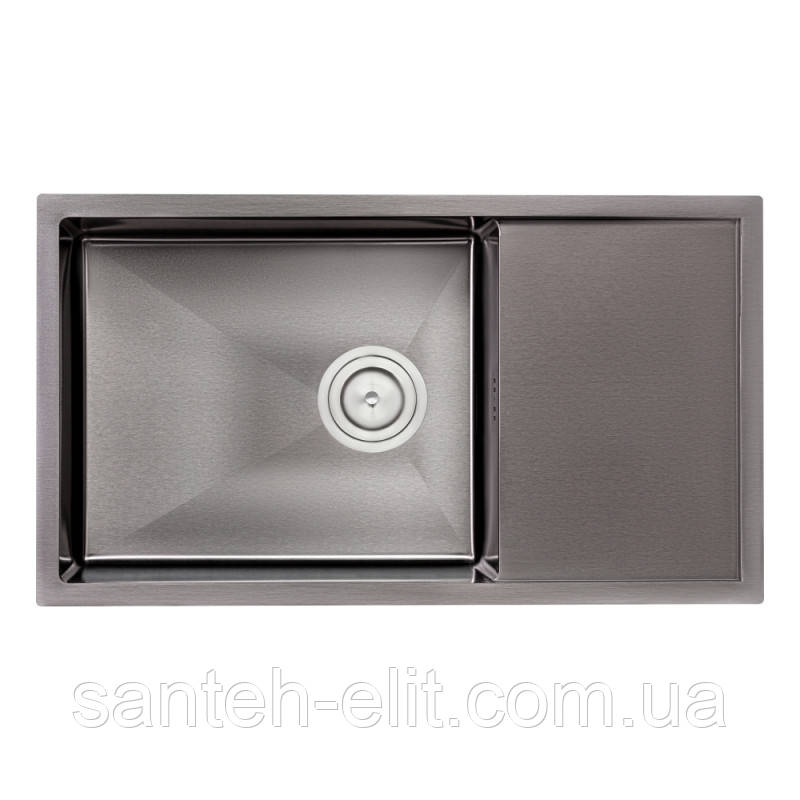 Кухонная мойка Qtap D7844BL 3.0/1.2 мм (QTD7844BLPVD12)