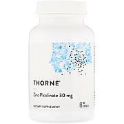 Цинк Пиколинат, Thorne Research, Zinc Picolinate, 30 mg , 180 капсул