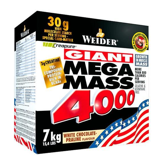 Гейнер Weider Mega Mass 4000, 7 кг Ваниль