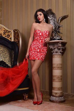 Платье короткое гипюр , фото 2