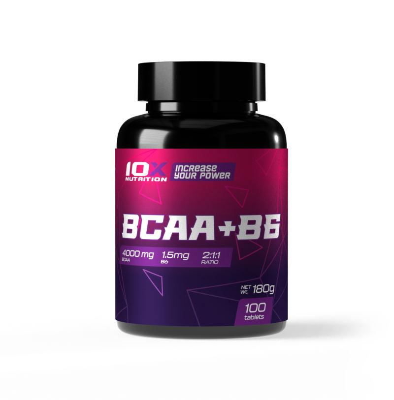 BCAA 10XNutrition BCAA + B6, 100 таблеток