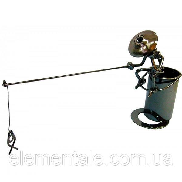 Фигурка Kanishka Рыбак 20х26х8.5 см с подставкой для ручек