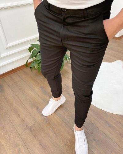 Мужские брюки зауженные черные/ Турция Черный, M