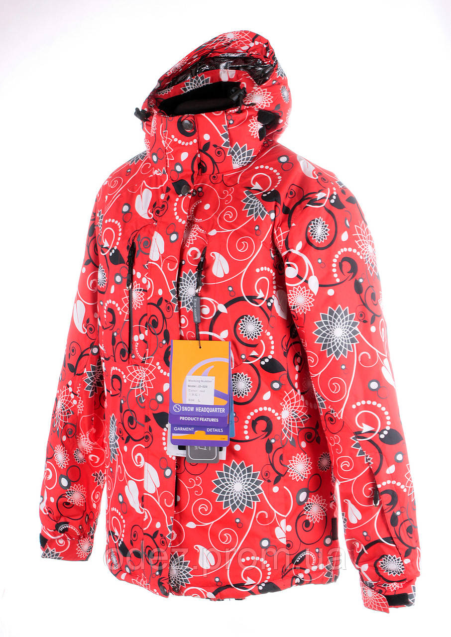 d5ed7ae15253 Женская горнолыжная(лыжная) куртка Snow headquarter c Omni-Heat красная -  Интернет-
