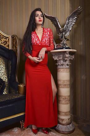 Платье с разрезами  голая спина креп, фото 2