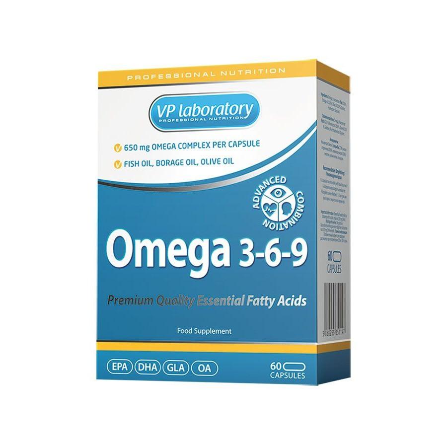 Жирные кислоты VPLab Omega 3-6-9, 60 капсул