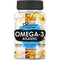 Жирные кислоты Powerful Progress Atlantic Omega-3, 90 капсул