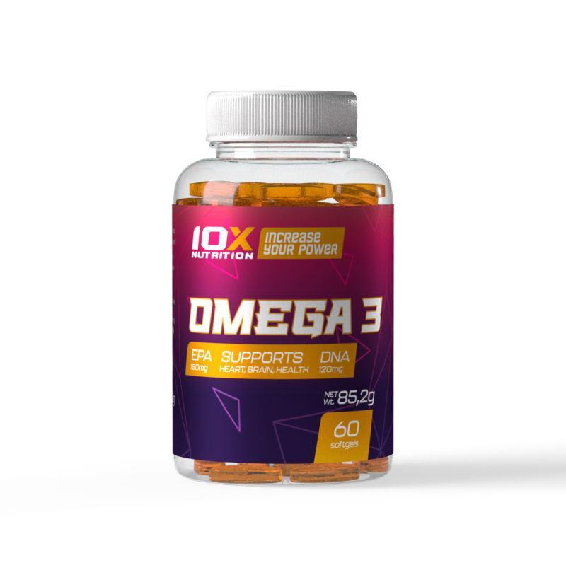 Жирные кислоты 10XNutrition Omega 3, 60 капсул