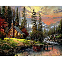 Картина рисование по номерам Babylon Охотничий домик 40х50см VP1261 набор для росписи, краски, кисти, холст