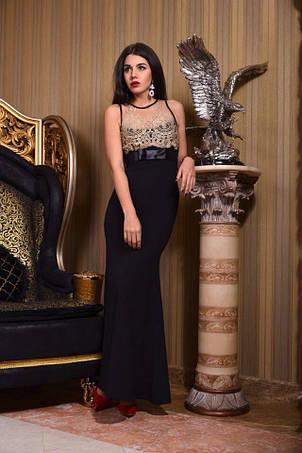 Платье вечернее фактурный креп, фото 2