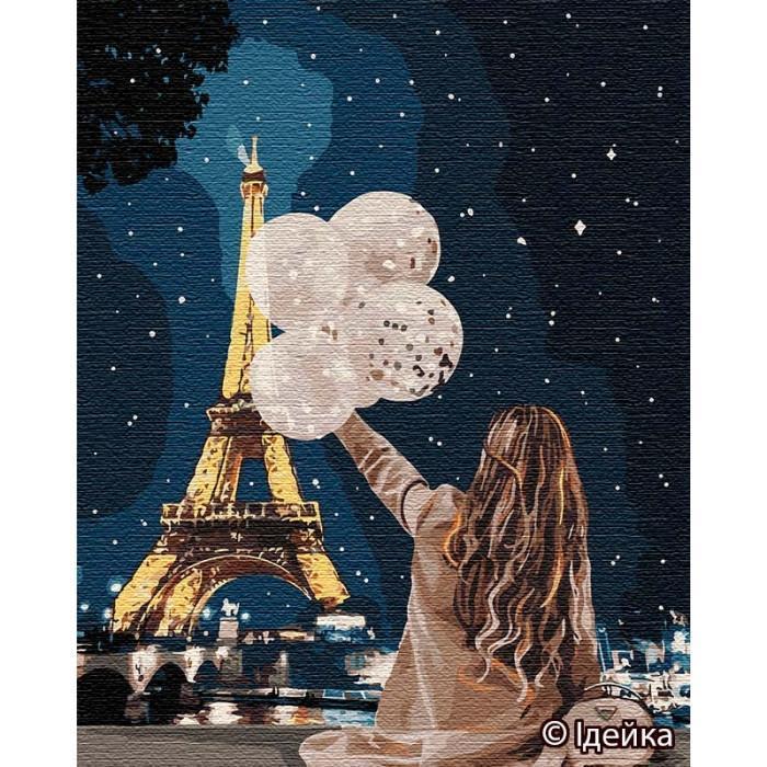 Картина рисование по номерам Идейка  Незабываемый вечер в Париже  КНО4763 40х50см набор для росписи, краски,