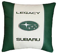 Декоративная подушка в машину с вышитым логотипом субару Subaru