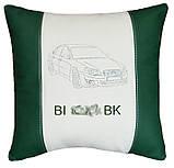 Декоративная подушка в машину с вышитым логотипом субару Subaru, фото 2