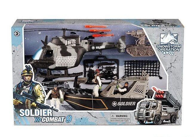 """Военный набор """"Soldier Combat""""  в коробке 81-39 H"""