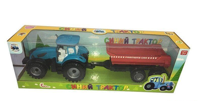 """Трактор с прицепом """"Синий Трактор"""" в коробке 0488-302 CQ"""