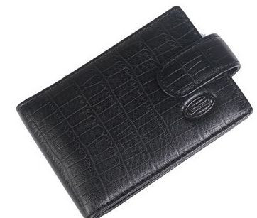 Бумажник для водительских документов из натуральной кожи Bretton M52 black (черный)